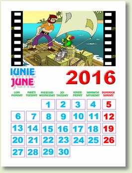 calendar iunie 2016