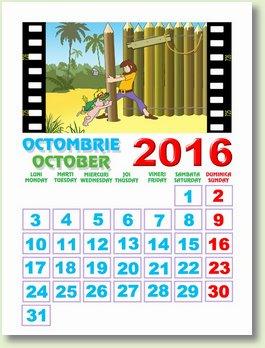 calendar octombrie 2016