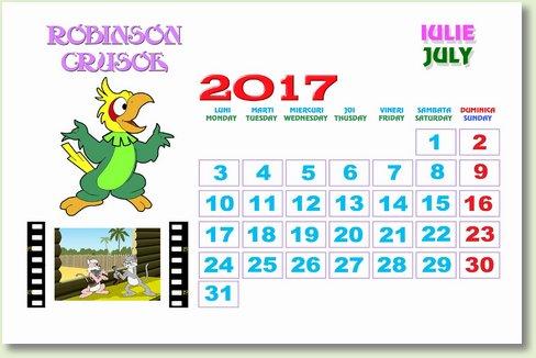 Calendar iulie 2017